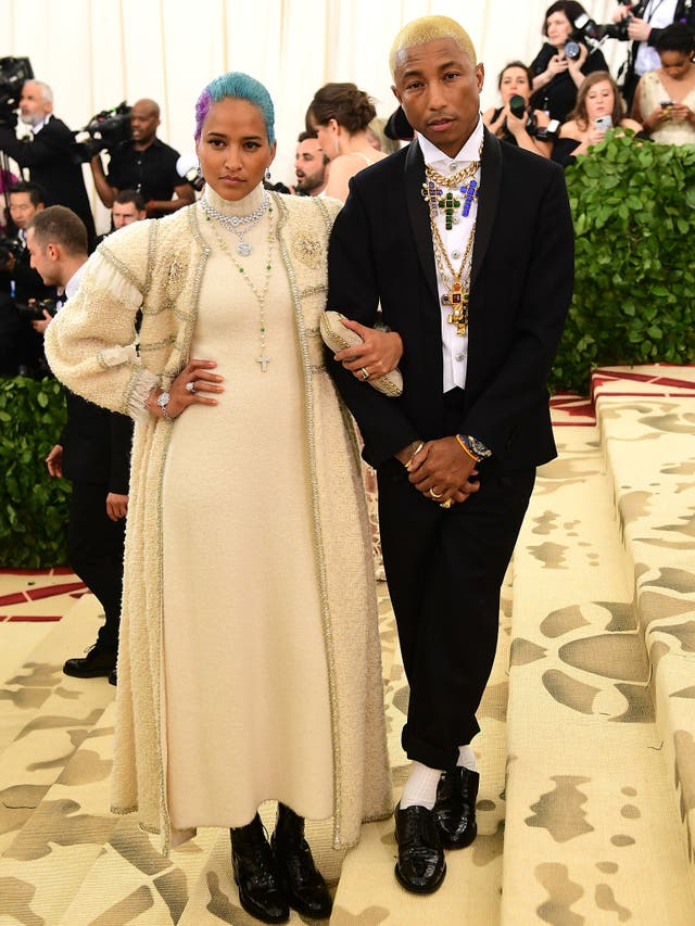 Power couple Helen Lasichanh and Pharrell Williams both dressed in Chanel for the annual gala