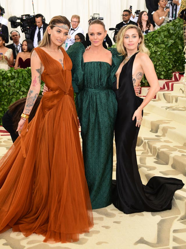 Paris Jackson and Miley Cyrus both opted for gowns by designer Stella McCartney