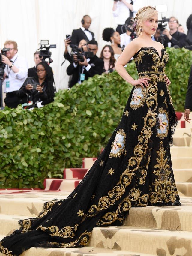 Emilia Clarke wearing a Dolce & Gabbana gown