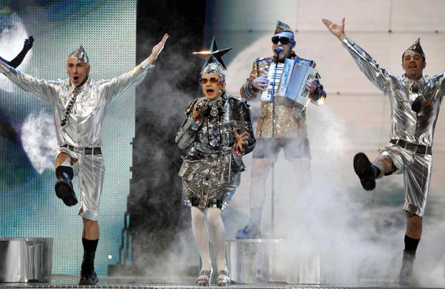 In 2007, Andriy Mykhailovych Danylko represented Ukraine at the Eurovision Song Contest as his drag stage persona Verka Serduchka, finishing in second place.