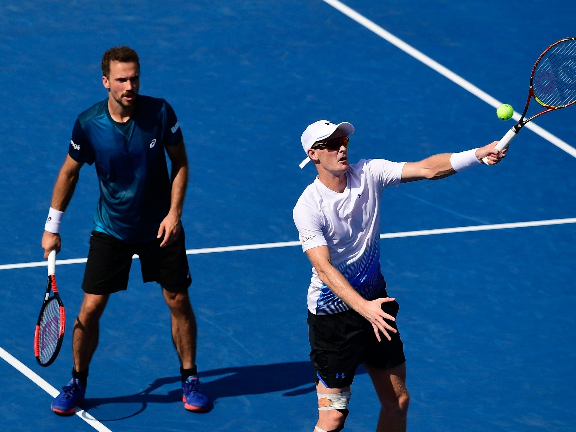 Jamie Murray on course for double-doubles success after wins with Bruno Soares and Bethanie Mattek-Sands