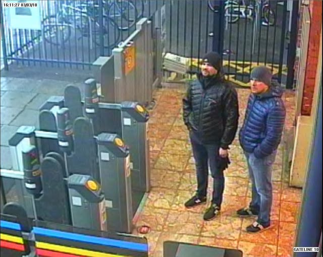 The two suspects charged in relation to the attack on Sergei and Yulia Skripal at Salisbury train station at 16:11hrs on 03 Maart 2018