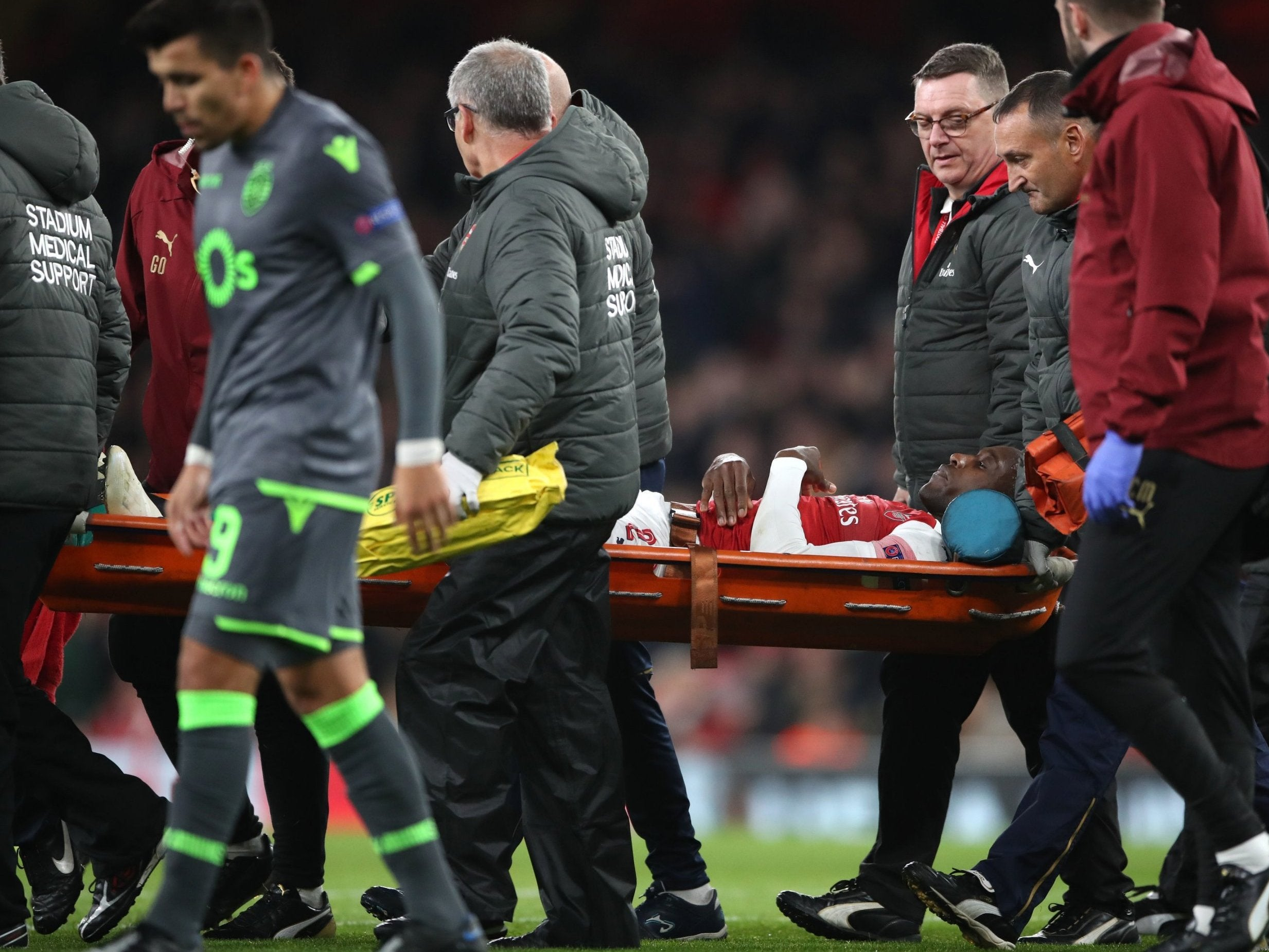 Arsenal vs Sporting: Danny Welbeck to have x-ray on serious injury hours after being named in England squad