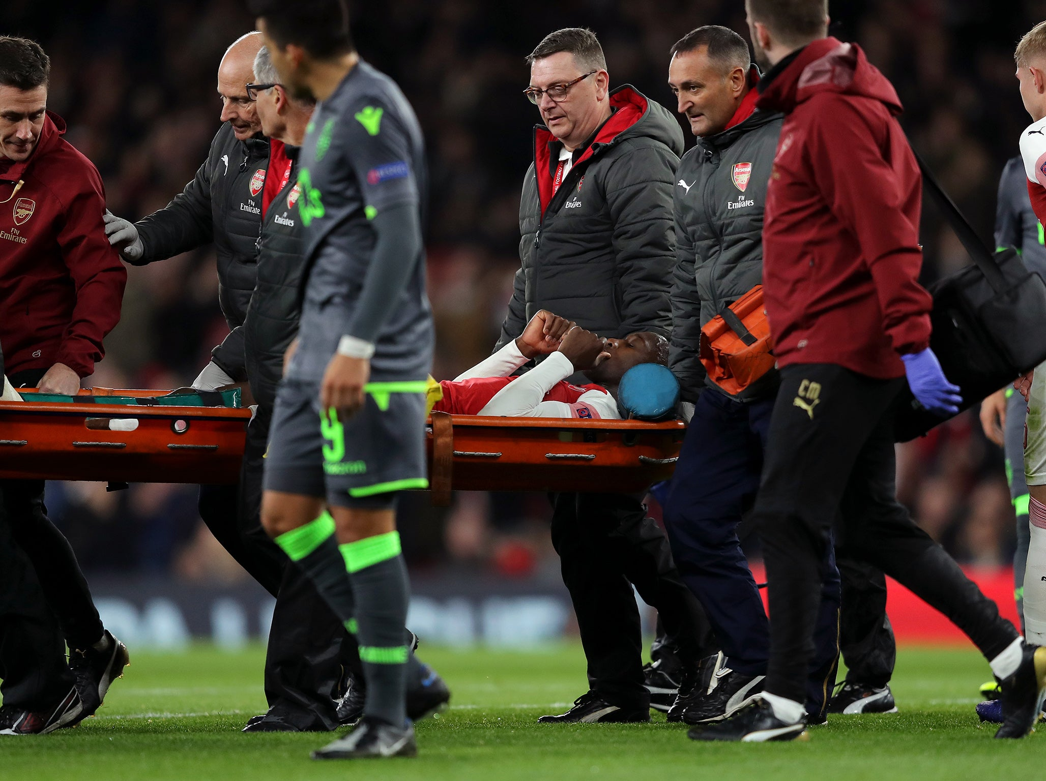 Arsenal vs Sporting result: Danny Welbeck injury sours progression to Europa League knockout stages