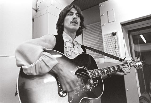 """George Harrison imparted timeless wisdom in """"While My Guitar Gently Weeps,"""" singing, """"With every mistake we must surely be learning."""" Ringo Starr's """"Don't Pass Me By"""" marked his first solo songwriting credit on a Beatles album"""