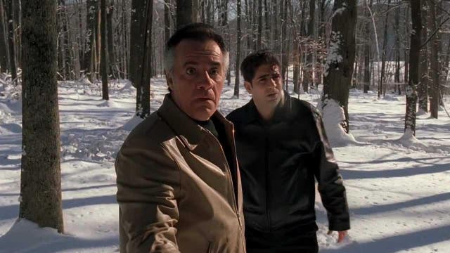 """<b>Season three, episode 11</b>: """"Pine Barrens"""" <p>  Often considered the show's finest achievement, this Chekovian season three episode directed by Steve Buscemi sends Christopher and Paulie (Tony Sirico) into the forest after botching the execution of Russian gangster, Valery (Vitali Baganov). Some glorious black comedy ensues as they pursue the wounded man and get deeply lost in the snow. <p> The execution of Professor Quadri in Bernardo Bertolucci's Italian gangster film <i>The Conformist</i>(1970) is often cited as an inspiration, as it was for Francis Ford Coppola in shooting <i>The Godfather</i> (1972). <p> Buscemi would act in the show himself from 2004 as Tony Blundetto in season five, securing an Emmy nomination for his work as Tony Soprano's cousin, newly released from prison and determined to go straight before being drawn back into the family business. <bl> """"Pine Barrens"""" remains a television masterclass."""