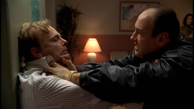 """<b>Season four, episode nine</b>: """"Whoever Did This"""" <bl>  Joe Pantoliano made a huge impression as Ralph Cifaretto, one of the show's most vile and brutal recurring characters (see number 11). Tony finally does the decent thing in season four, throttling the self-confessed """"sick f***"""" to death on his own kitchen floor, believing him to have razed the stables in which his beloved racehorse Pie-O-My was burnt to death for the insurance money. Such periodic eruptions of violence remind us just how ruthless Tony Soprano truly is."""