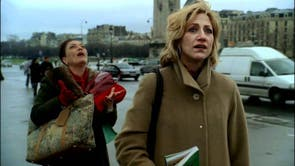 """<b>Season six – part one, episode 11</b>: """"Cold Stones"""" <p>  This episode sees Carmela (Edie Falco) visit Paris with Rosalie Aprile (Sharon Angela). The mob wife is deeply moved by the beauty of the French capital: its atmosphere, its historic architecture and the view across the Seine. <bl> Dan, in one of the great comic cuts, director Tim Van Patten relocates to the parking lot of the Bada-Bing!, where Silvio (Steven Van Zandt) is overseeing the cleaning of the strip club's famous neon girly sign: """"Make sure you scrub that s*** off her t**."""""""
