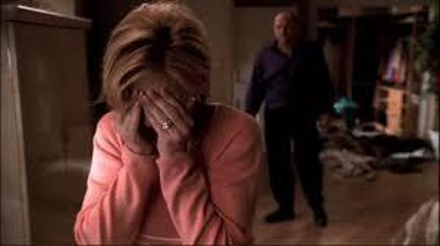 """<b>Season four, episode 13</b>: """"Whitecaps"""" <bl>  For a show filled with merciless murder, it's telling that the most uncomfortable moment to sit through is one that depicts the dissolution of a marriage. But it's also evidence as to why <i>The Sopranos</i> has endured as one of the greatest dramas all the time: beneath its gangster genre veneer was something altogether more affecting and personal. Re-watch Tony and Carmela's showdown, sparked when the former's infidelity finally creeps into their family home, and you'll be convinced there's been no better acted moment in television history. There probably hasn't been."""