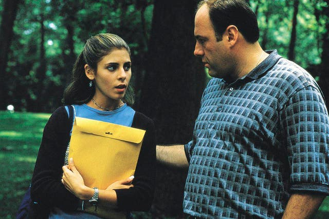 """<b>Season one, episode five</b>: """"College"""" <p>  In one of the show's earliest acclaimed episodes, Tony drives Meadow (Jamie-Lynn Sigler) to Maine for a tour of prospective campuses ahead of her high school graduation. His daughter takes the opportunity to grill him on the family business, exposing Tony's hypocrisy and the layers of deceit the Soprano clan must live under. <bl> At a petrol station, Tony spots Fabian Petrulio (Tony Ray Rossi), a former DiMeo consigliere turned rat now living under the Witness Protection Programme. He duly garrottes him while Meadow is in an interview, bringing his two worlds uncomfortably close together."""