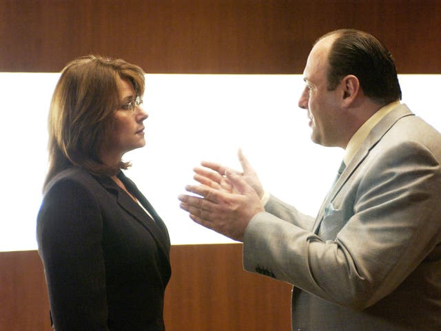"""<b>Season three, episode four</b>: """"Employee of the Month"""" <bl>  """"You wanna say something?"""" Tony asks his visibly distressed psychiatrist Doctor Jennifer Melfi (Lorraine Bracco) after she discovers her rapist has been let free due to a police error. She knows – we know – a response in the affirmative will spur Tony's killing instinct into action, but to do so would be to shun her ethics. It's impossible to watch this moment and not yearn for Melfi to answer differently. But she doesn't. Melfi's simple delivery of the word """"no"""" is one of the most haunting moments of the entire series."""