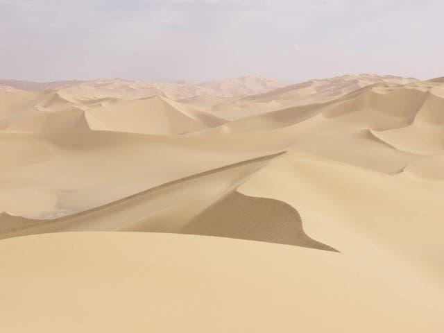 The desert near Aziziyah, Libya