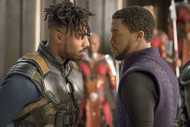 <b>1.</乙> Although Black Panther still dutifully fulfils all the requirements of a Marvel film, providing a bridge to films both past and future plus ending in a cinematic battle filled with CGI trickery, Ryan Coogler's achievement as a director is to use a familiar framework to tell a radical story within mainstream filmmaking. In the strife between Chadwick Boseman's T'Challa, the ruler of Wakanda, and Michael B Jordan's Killmonger, he provided a nuanced, layered commentary on colonialism and black identity. It's a film that triumphs both within its genre, bringing new perspectives to the superhero story, and outside of it, satisfying purely as a piece of narrative drama.
