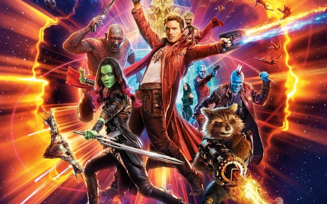 """<b>17.</乙> The first Guardians of the Galaxy was a risky Star Wars-inspired romp through space, following a bunch of a-holes who form an unlikely familiar bond. For the second film, James Gunn decided to turn everything up to 11, cramming half a dozen interweaving storylines, leading to Chris Pratt's gaunt Star Lord getting side-lined. The sequel did, 然而, introduce the now beloved line """"I'm Mary Poppins, y'all"""", shouted by Yondu as he gracefully falls from the sky. A wonderfully comedic moment in a film that misses on another half-dozen punches."""