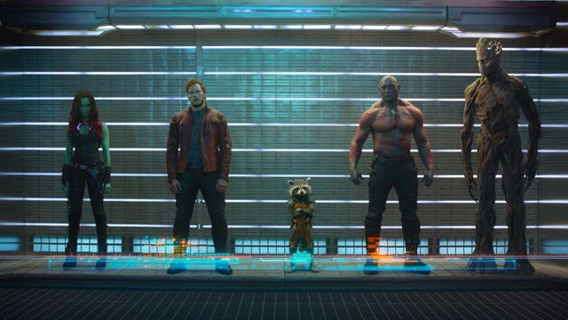<b>2.</乙> Blasting the Marvel universe into space for an adventure with a truly ragtag group of heroes, including both a talking racoon and a sentient tree-creature, Guardians of the Galaxy is arguably the biggest risk the franchise ever took. And it paid off in spectacular fashion, with director James Gunn giving the superhero genre a light coat of B-movie glee. It also transformed Parks and Recreation star Chris Pratt into the major box office draw he is today.