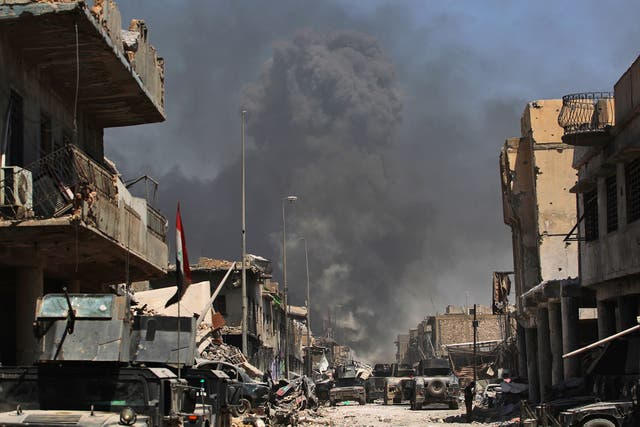 Iraqi forces battle with Isis for the city of Mosul on 30 Junho 2017