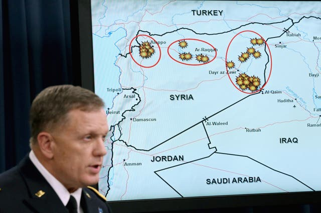 The US launched its first airstrikes against Isis in Syria on 23 setembro 2014. Here Lt Gen William C Mayville Jnr speaks about the bombing campaign in the wake of the first strikes