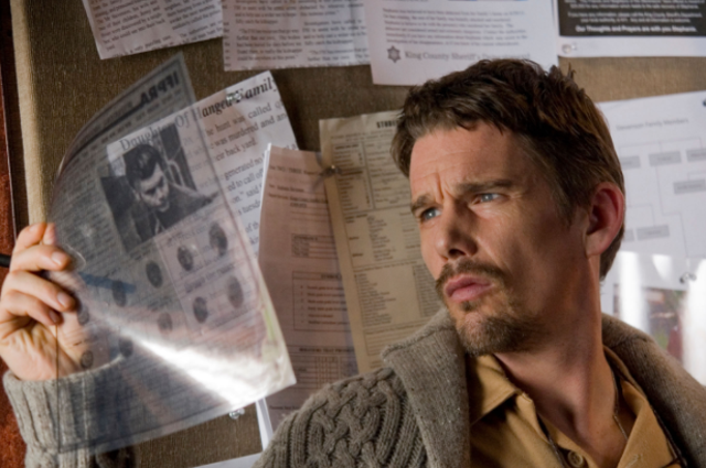 Directed by: Scott Derrickson. Of all the Blumhouse horror films, 2012 release Sinister – which features the demonic character Bughuul – is the spookiest of them all. It stars Ethan Hawke as a true-crime writer who discovers a box of home movies depicting grisly murders in the attic of his new house.