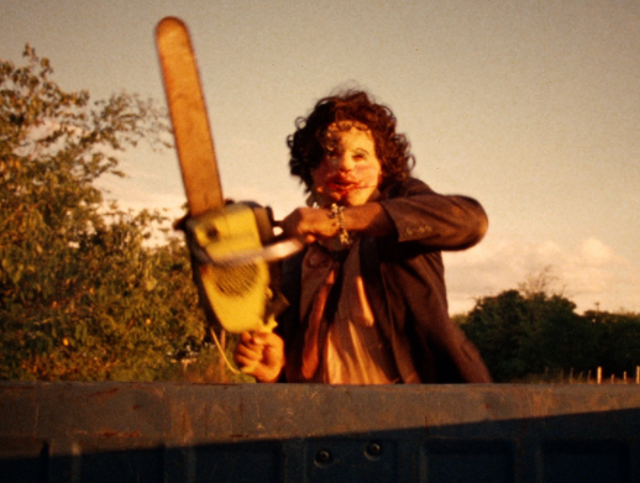 Directed by: Tobe Hooper. The fictional Texas Chainsaw Massacre (1974), marketed as a true story, follows a group of cannibals – including Leatherface – who relentlessly hunt down a group of friends.