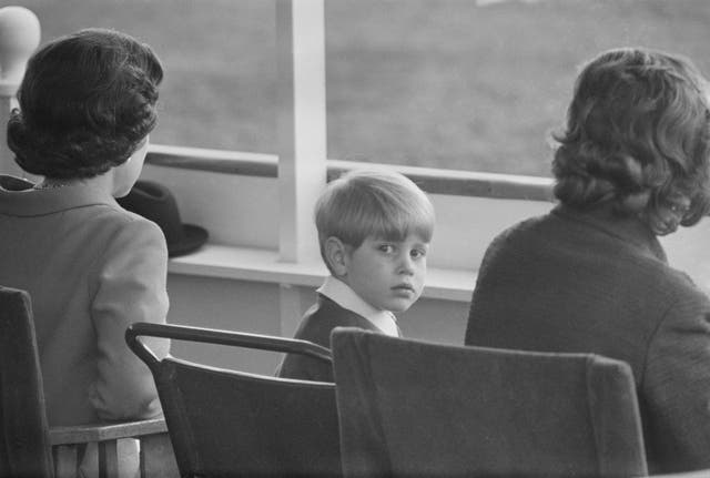 A four-year-old Prince Edward turns in his seat as he attends the annual Royal Windsor Horse Show. (1968)