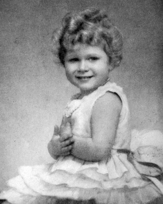 A portrait of Queen Elizabeth II, then Princess Elizabeth, aged three or four years old. (circa 1929-1930)