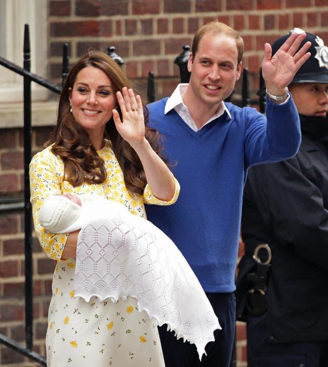 Born 2 Mei 2015 to Prince William, Duke of Cambridge and Catherine, Duchess of Cambridge