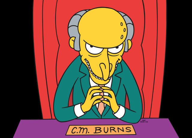 """<b>Voiced by</b>: Harry Shearer <bl>  Could Mr Burns be the greatest animated villain of all time? Quite possibly. As the wealthiest man in Springfield – loyally backed up by sidekick Smithers – he's also the town's most evil and the source of many of the long-running show's most """"excellent"""" moments."""