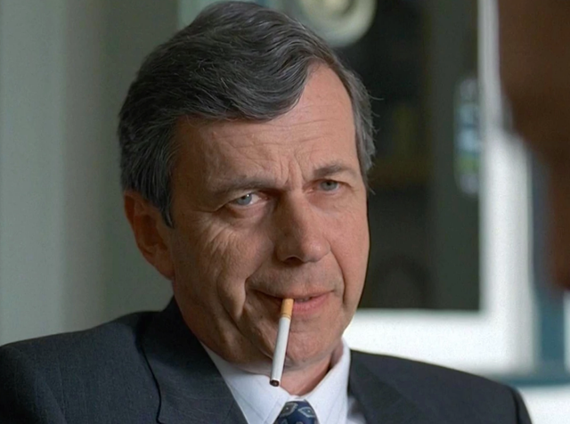 <b>Played by</b>: William B Davis <bl>  Such was the success of Cigarette Smoking Man that he was one of very few X-Files characters away from Mulder and Scully to return in the recent Fox revival series. He's a mysterious representative for the shady corporation hiding the truth behind alien existence on Earth.