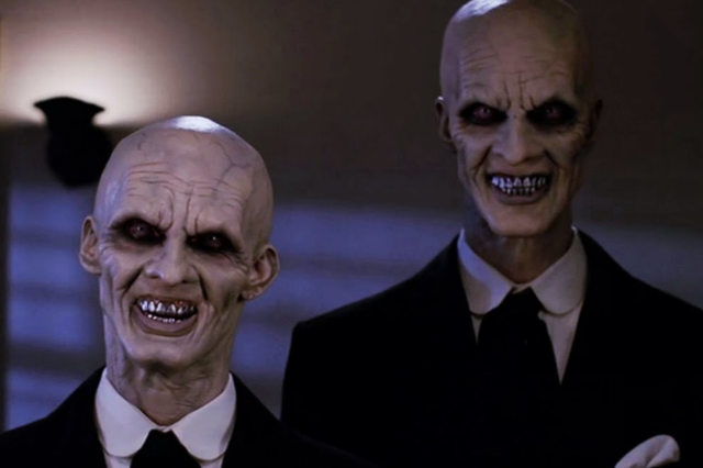 """<b>Played by</b>: Doug Jones,  Camden Toy, Don W Lewis, Charlie Brumbly <bl>  Buffy the Vampire Slayer's fourth season episode """"Hush"""" is considered by many to be one of the show's best, and it's no doubt partly thanks to the malevolent Gentlemen. Inspired by Nosferatu, Hellraiser's Pinhead and Mr Burns, the creatures would cut out people's hearts, a smile etched on their face the entire time. Chilling."""