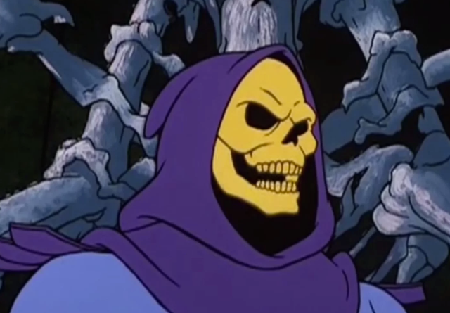 <b>Voiced by</b>: Alan Oppenheimer <bl>  Skeletor's willingness to put up with useless henchmen may have made him less scary than his face would suggest, but he caused enough of a problem for the heroic He-Man to warrant a placement here.