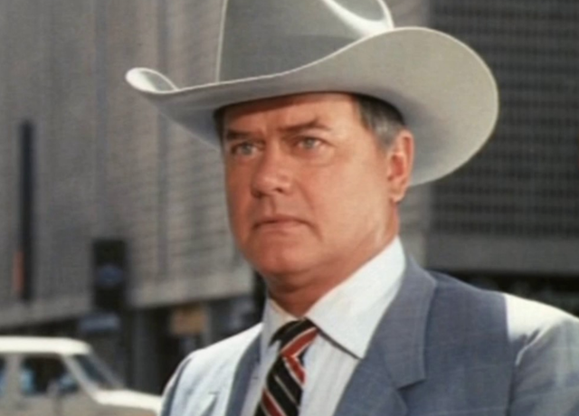 """<b>Played by</b>: Larry Hagman <bl>  Vir 12 jare, scheming Dallas character JR Ewing lied and cheated his way through the show so much that by the time he was gunned down - as part of the renowned """"Who shot JR?"""" storyline - everyone was a suspect."""