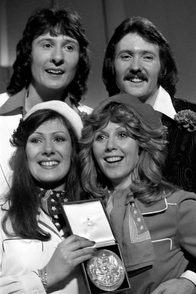 """With a last-second plot twist to rival those in Game of Thrones, """"Save Your Kisses For Me"""" is the highest ranking winner on our chart.  1976 was the first time since the Sixties that our national final was open to multiple artists, rather than one act selected by the BBC presenting a number of tracks. The Brotherhood fought off stiff competition from Co-Co and Sweet Dreams (who would both go on to represent in '78 and '83 respectively), as well as turns from Hazel Dean and Tony Christie.   Check out Kenickie's version, commissioned in the late Nineties by Channel 4 for a special Eurotrash does Eurovision compilation."""