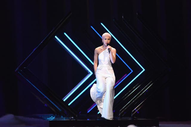 """Eurovision performances can stand out for all sorts of reasons. SuRie's time on stage is memorable not because her microphone was snatched by a stage invader, but by the way she reacted to the situation. Few other artists on this list would have handled it so deftly.  As she picks the mic from off the floor, she kicks back into the bridge with the lyrics: """"Hold your head up, don't give up, no no"""" - at which point you can see her adrenaline weaponising those words to deliver a defiant, triumphant and unforgettable end to the song.  In 60+ years of Eurovision participation SuRie's performance is unique in that it unquestionably transcends the song. An absolute ambassador for Britain's participation in Eurovision, her next single """"Only You and I"""" is out on 17 May."""