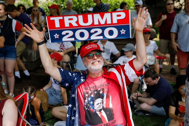 A supporter of US President Donald J. Trump