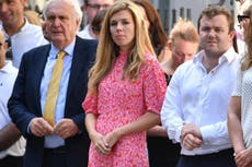 Dress worn by Carrie Symonds sells out within hours