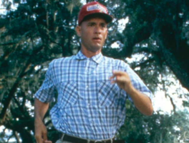"""""""Hello, my name's Forrest. Forrest Gump. You want a chocolate? I could eat about a million and a half of these. My momma always said, 'Life was like a box of chocolates. You never know what you're gonna get'."""""""