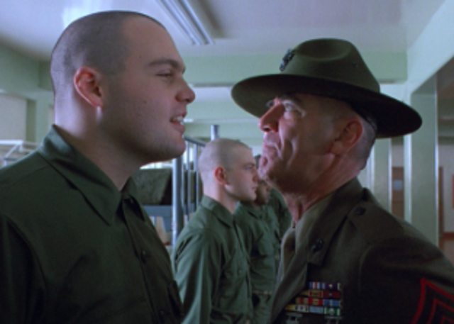 """""""I am Gunnery Sergeant Hartman, your senior drill instructor. From now on, you will speak only when spoken to, and the first and last words out of your filthy sewers will be 'Sir!' Do you maggots understand that?"""""""