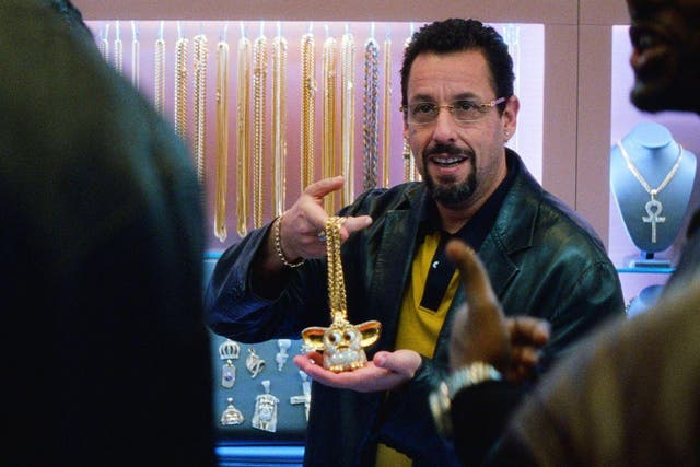 Adam Sandler blazes like a diamond-drill in Josh and Benny Safdie's sensory-rush drama about a jeweller and gambling addict trying to hold onto his sanity as his world comes crashing down. It's an exhausting, sometimes overwhelming watch – but with Sandler as the audience's lodestar, it's a journey worth staying with.