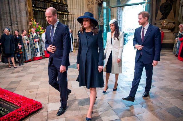 Prince William, Kate, Meghan and Prince Harry attend a Commonwealth Day Service at Westminster Abbey