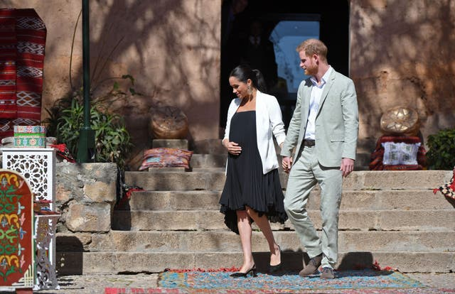 The Duke and Duchess of Sussex, visit the Kasbah of the Udayas near the Moroccan capital Rabat