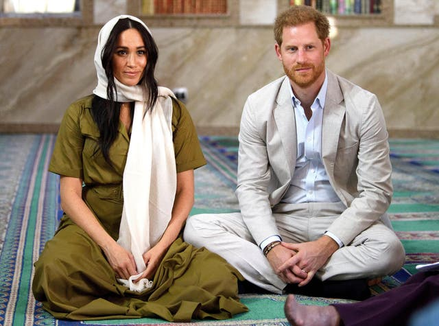 The Duchess of Sussex visits Auwal Mosque on Heritage Day with the Duke of Sussex during their royal tour of South Africa. Auwal Mosque is the first and oldest mosque in South Africa and for the Muslim community, this mosque symbolises the freedom of former slaves to worship