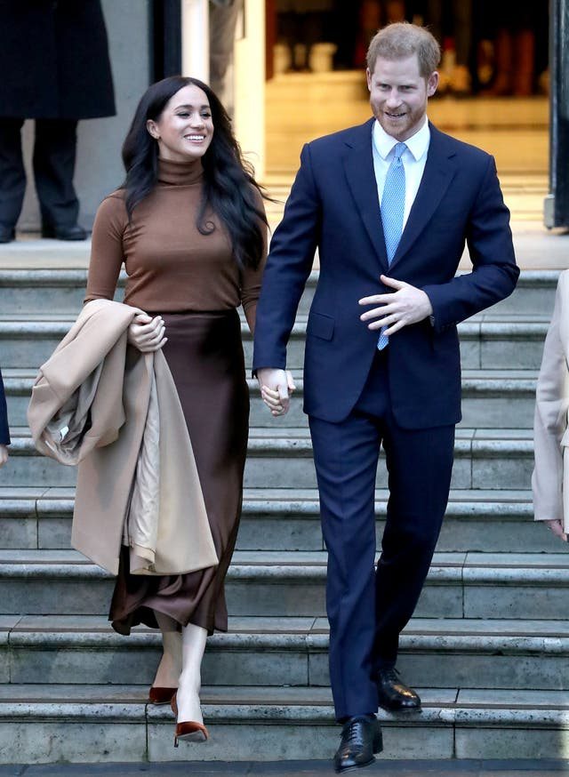 Duke and Duchess of Sussex depart Canada House in London after visiting to show thanks for the warm hospitality and support they received during their recent stay in Canada
