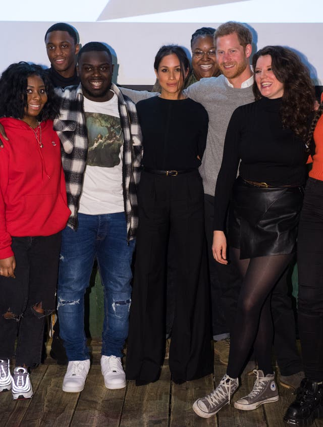 Prince Harry and Meghan during a visit to Reprezent 107.3FM in Pop Brixton. The Reprezent training programme was established in Peckham in 2008, in response to the alarming rise in knife crime, to help young people develop and socialise through radio