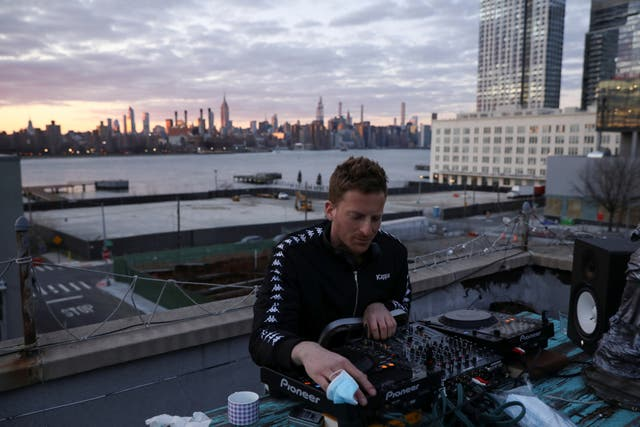 DJ Nash Petrovic live streams a set from his roof in Brooklyn