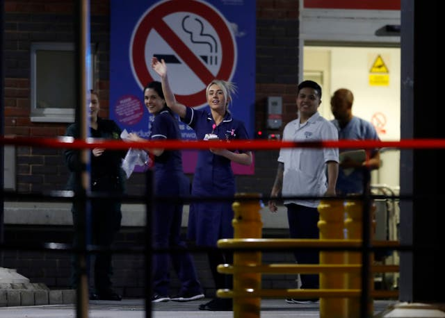 NHS staff respond as people in Blackpool join in the national applause