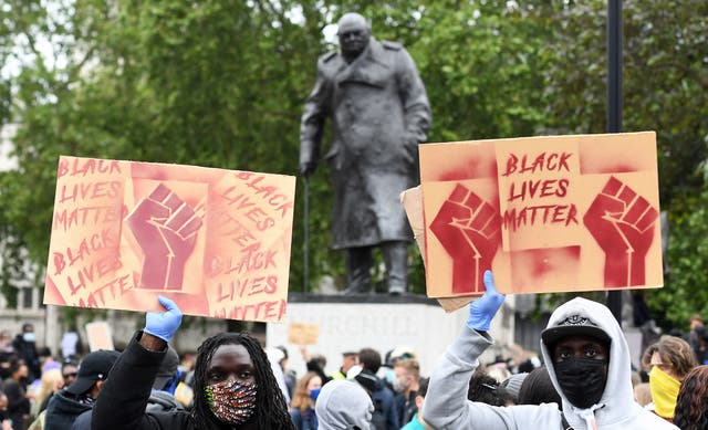 Protests at Parliament Square in London