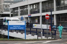 Two London hospitals ban visitors after rise in Covid-19 cases