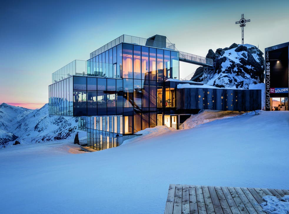 The ice Qrestaurant inSölden appeared in the 2015 James Bond film Spectre