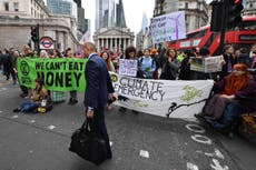 'Policing bill makes us more determined,' say Extinction Rebellion ahead of action targeting City of London