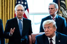 Trump denies he's made up with Mitch McConnell